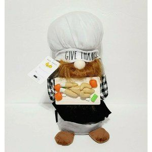 Rae Dunn Give Thanks Weighted Gnome Plush